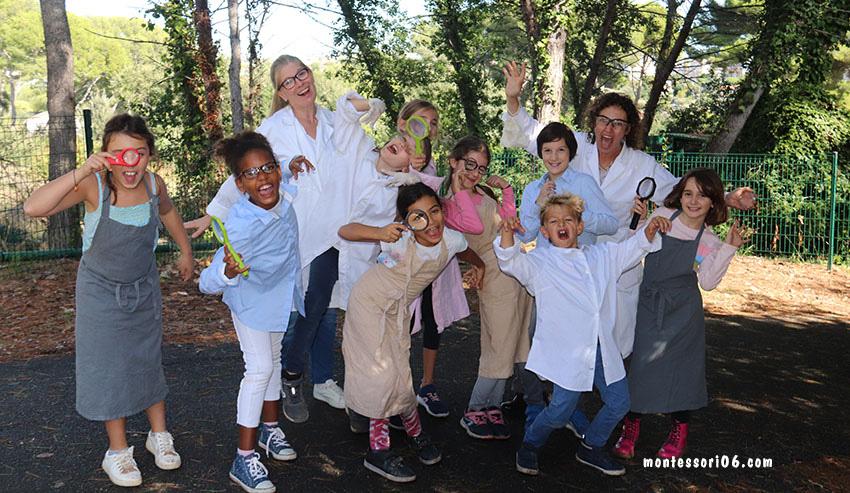 Les sciences occupent une place prépondérante à l'école Montessori d'Antibes